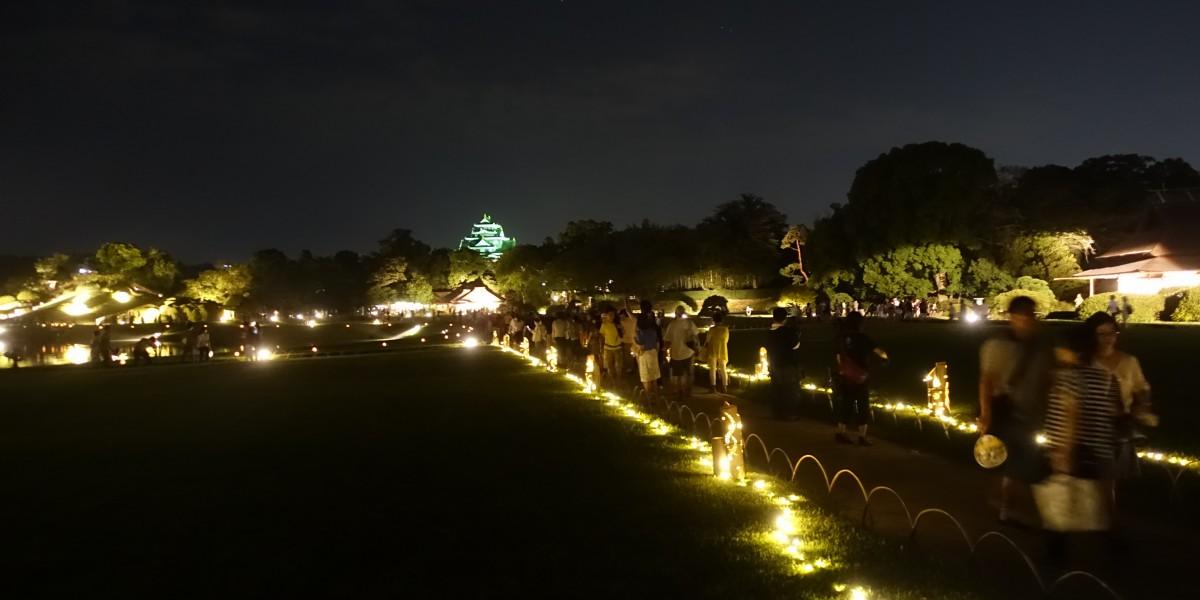 幻想庭園の夜景